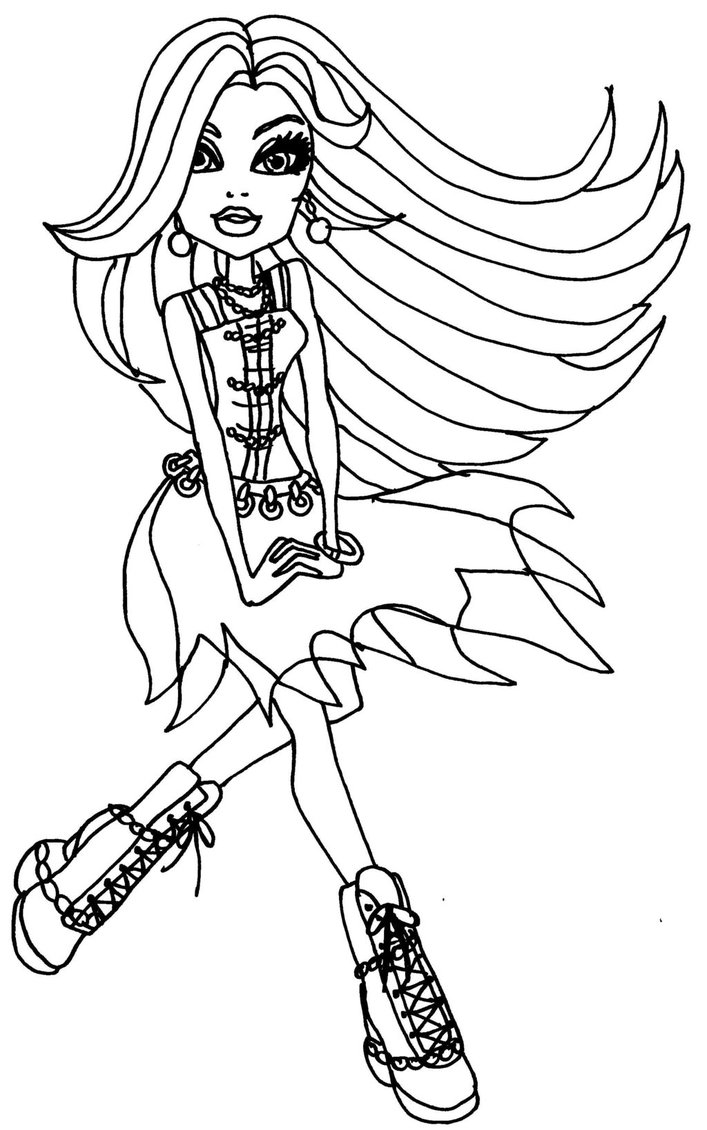coloring pages monster high skull - photo#36