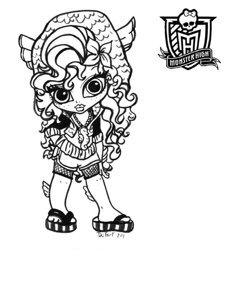Free coloring pages monster high