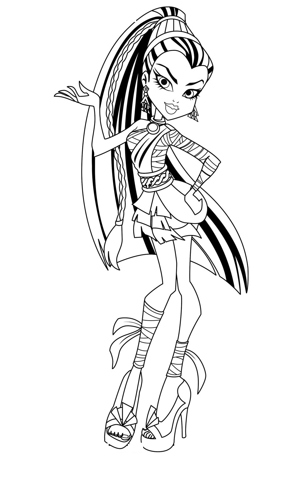 Free Coloring Pages Of Monster High