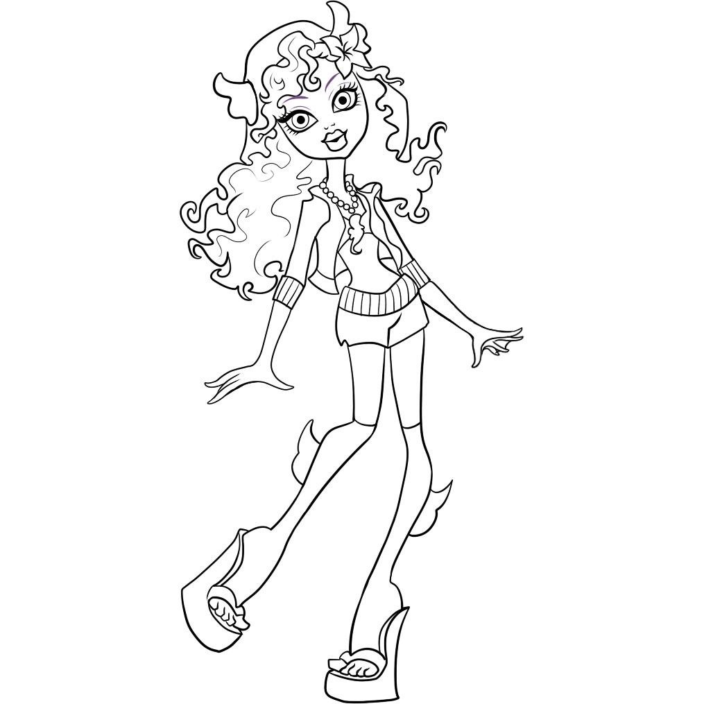 Monster High Coloring Pages Pictures