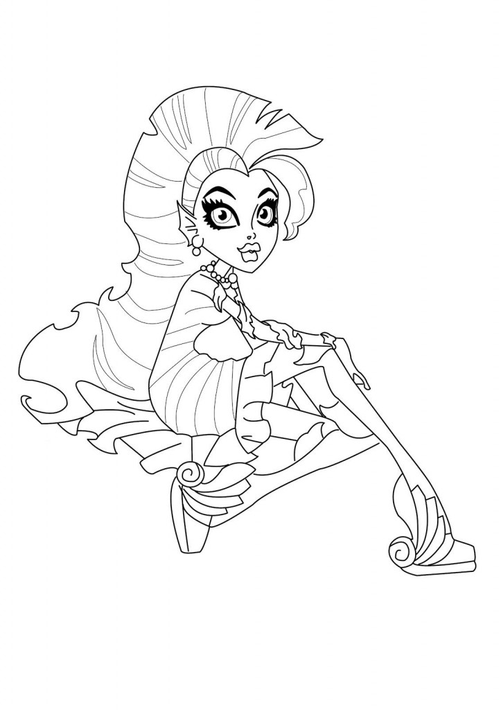 Free Printable Monster High Coloring Pages for Kids