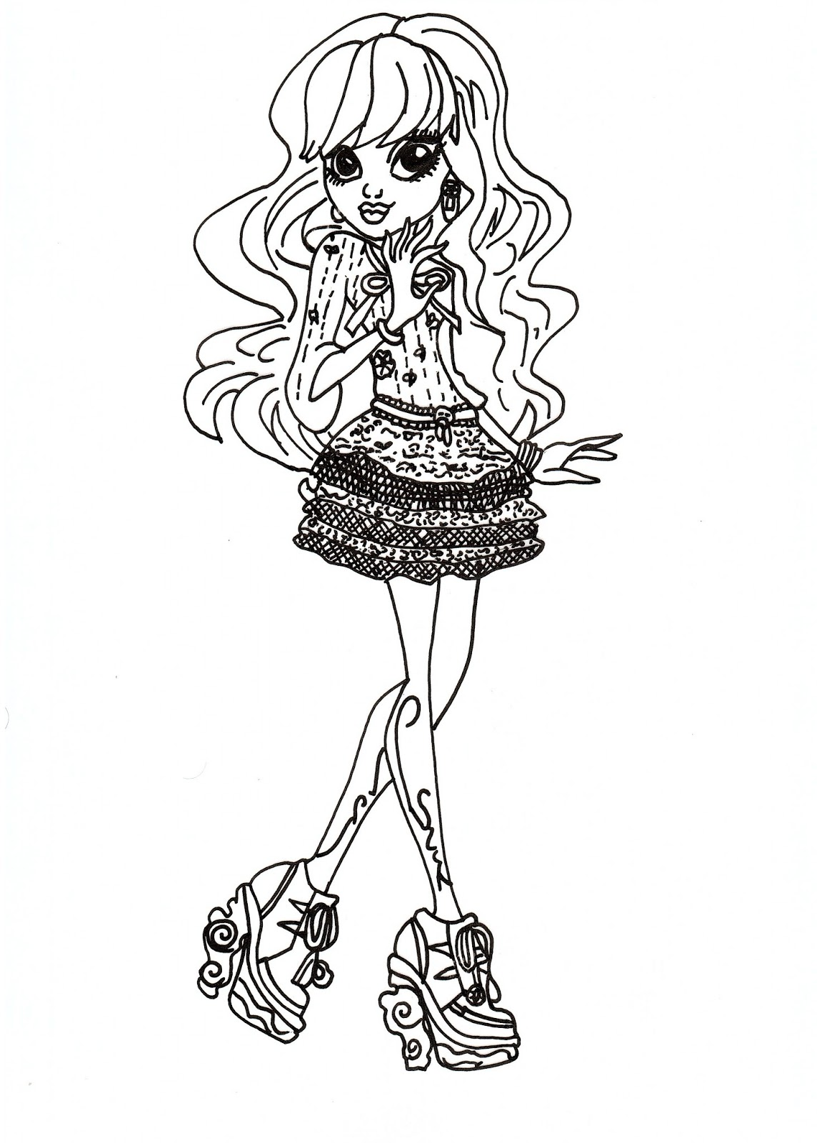 Uncategorized Monster High Pictures To Colour And Print free printable monster high coloring pages for kids to print photo