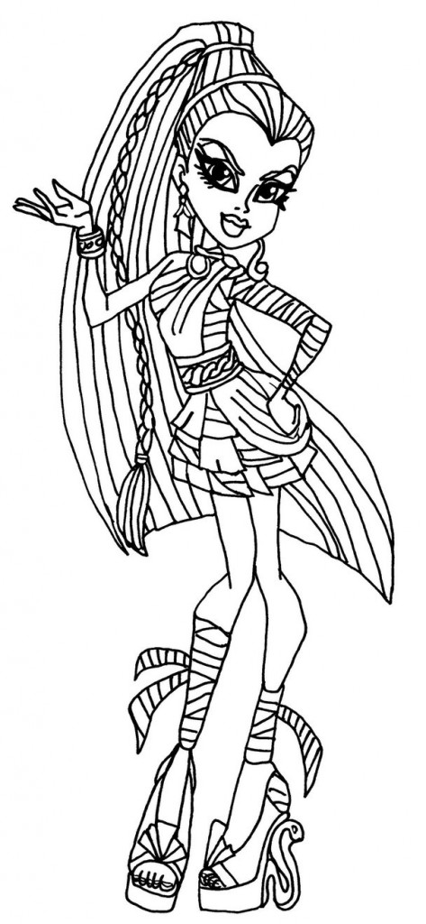 Monster High Coloring Pages to Print Pictures