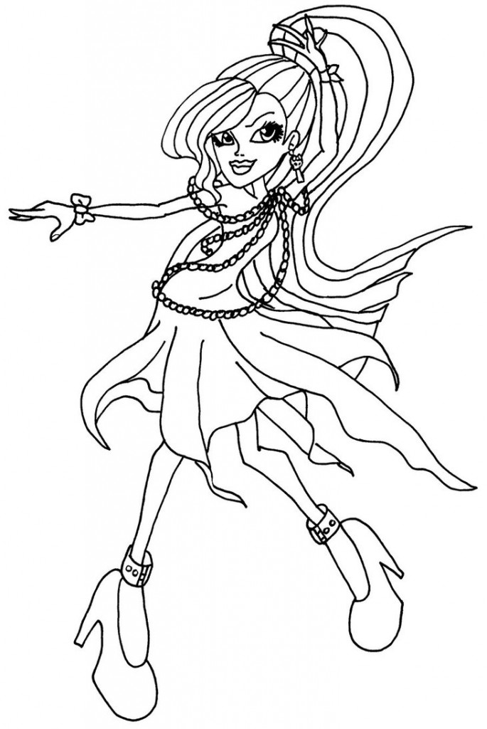 monster high dolls coloring pages images - Monster High Dolls Coloring Pages