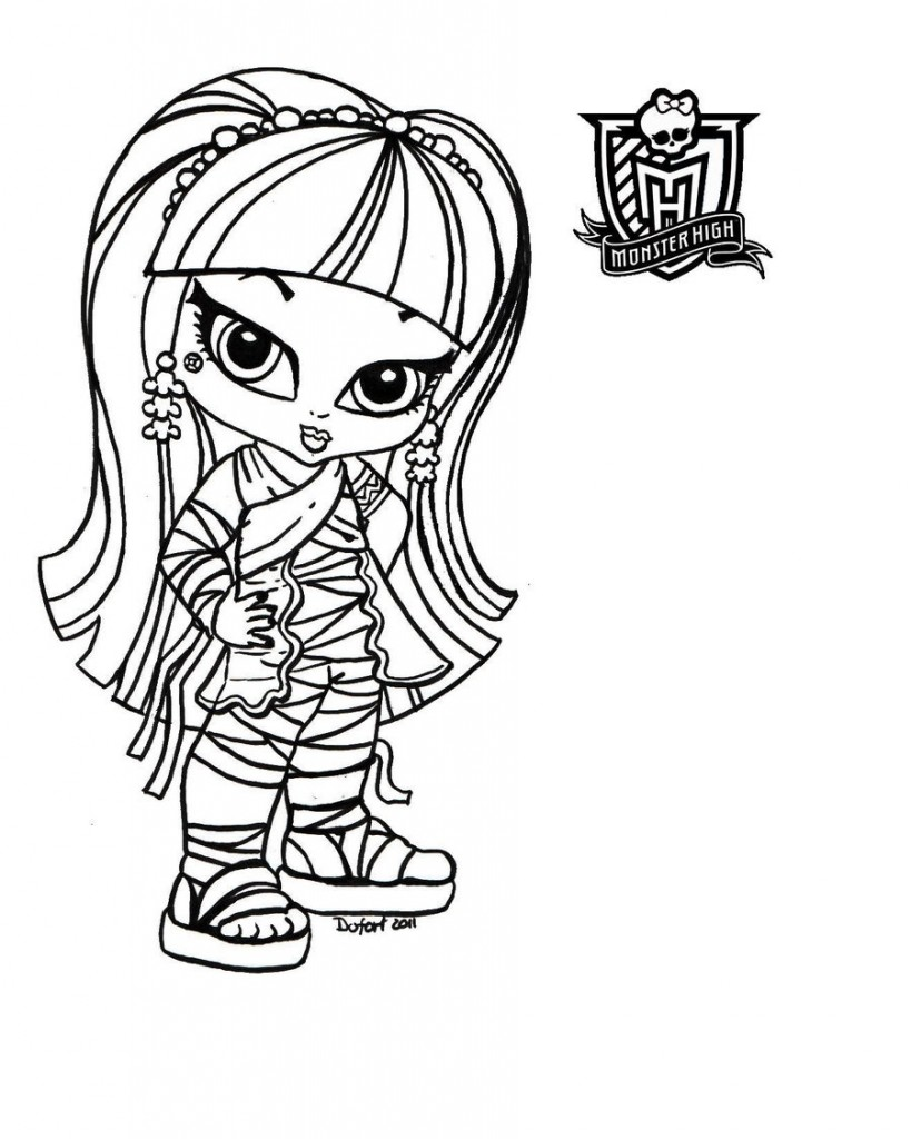 Monster High Printable Coloring Pages Photo