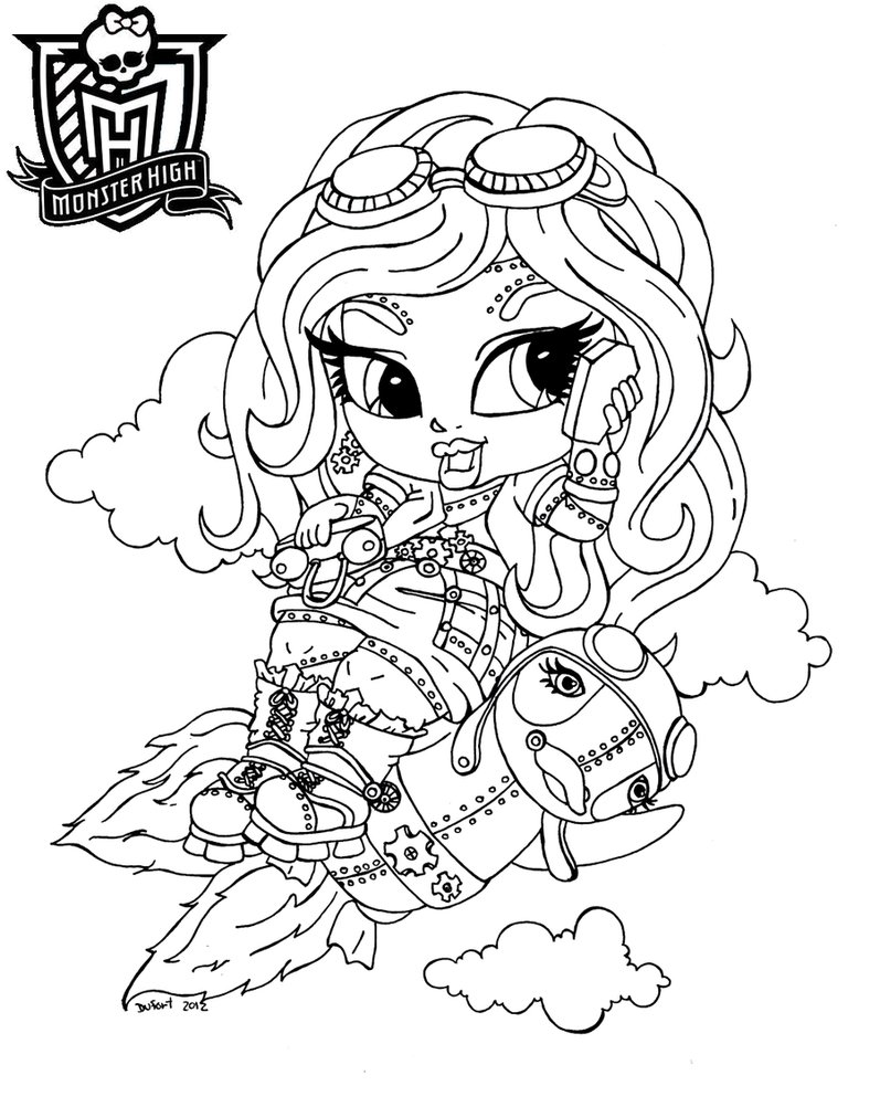 Monster High Printable Coloring Pages Picture