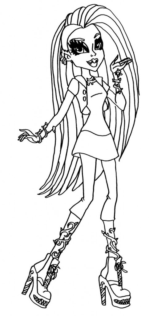 Monster High Venus Mcflytrap Coloring Pages