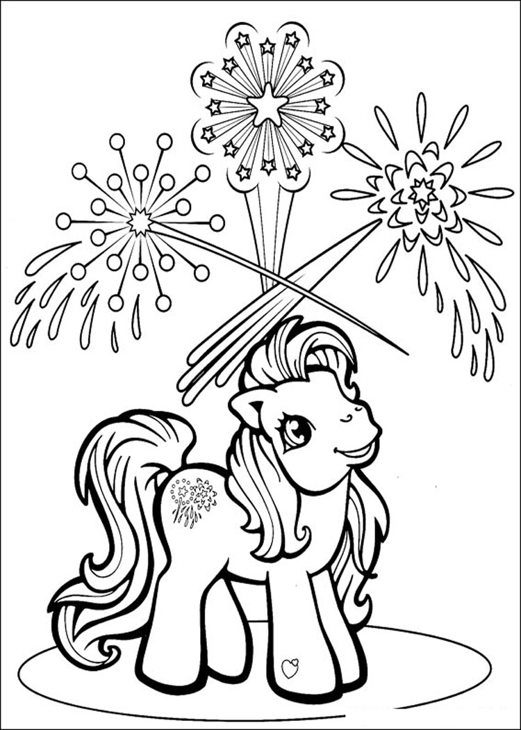My little pony friendship magic coloring pages print - My Little Pony Christmas Coloring Pages