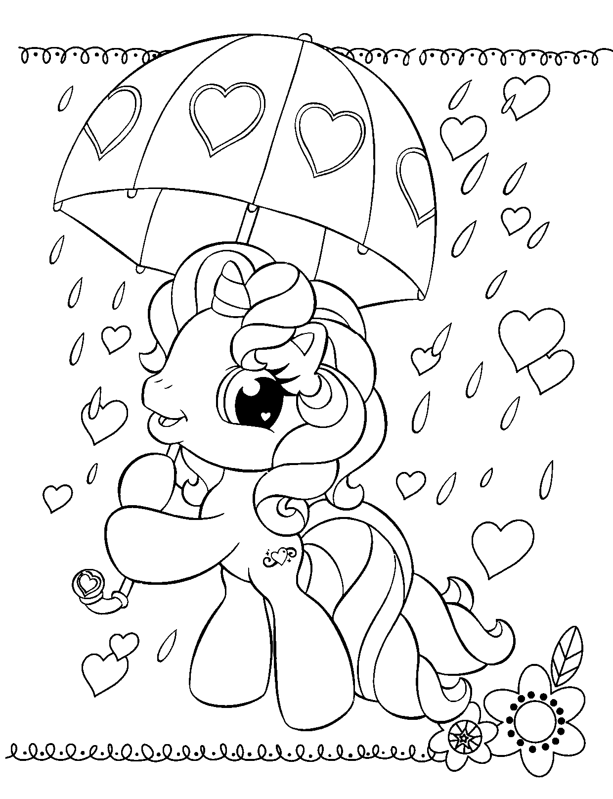 y little pony coloring pages - photo #19