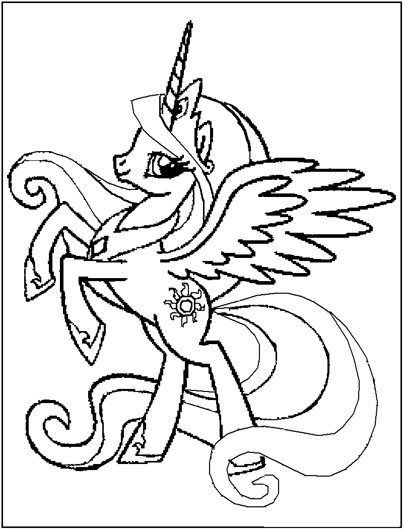 kids pony coloring pages - photo#22