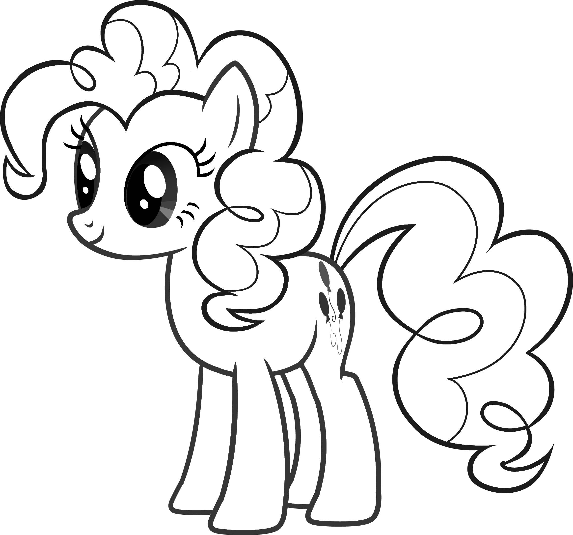 my little pony coloring pages - Colour Worksheet For Kids