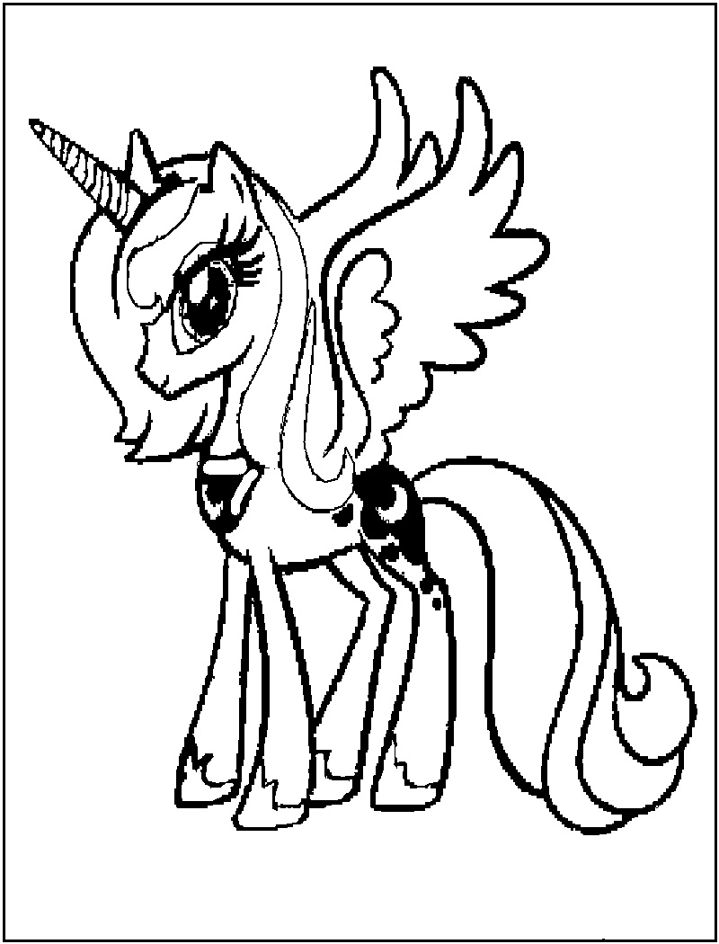 Free Mlp Fim Celestia Coloring Pages
