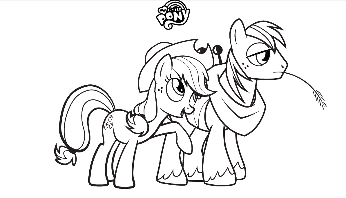 My little pony colouring book