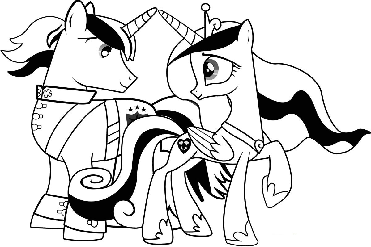 Coloring pages little pony