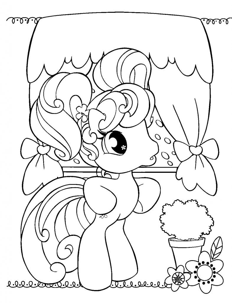 Free Printable My Little Pony Coloring