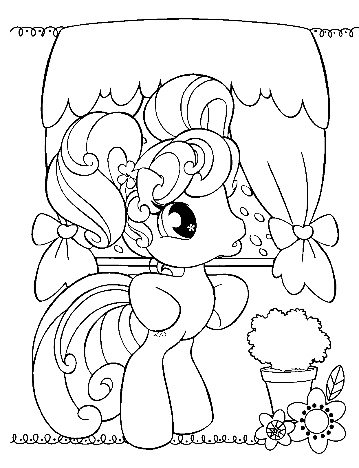 Free coloring pages online for free - My Little Pony Online Coloring Pages