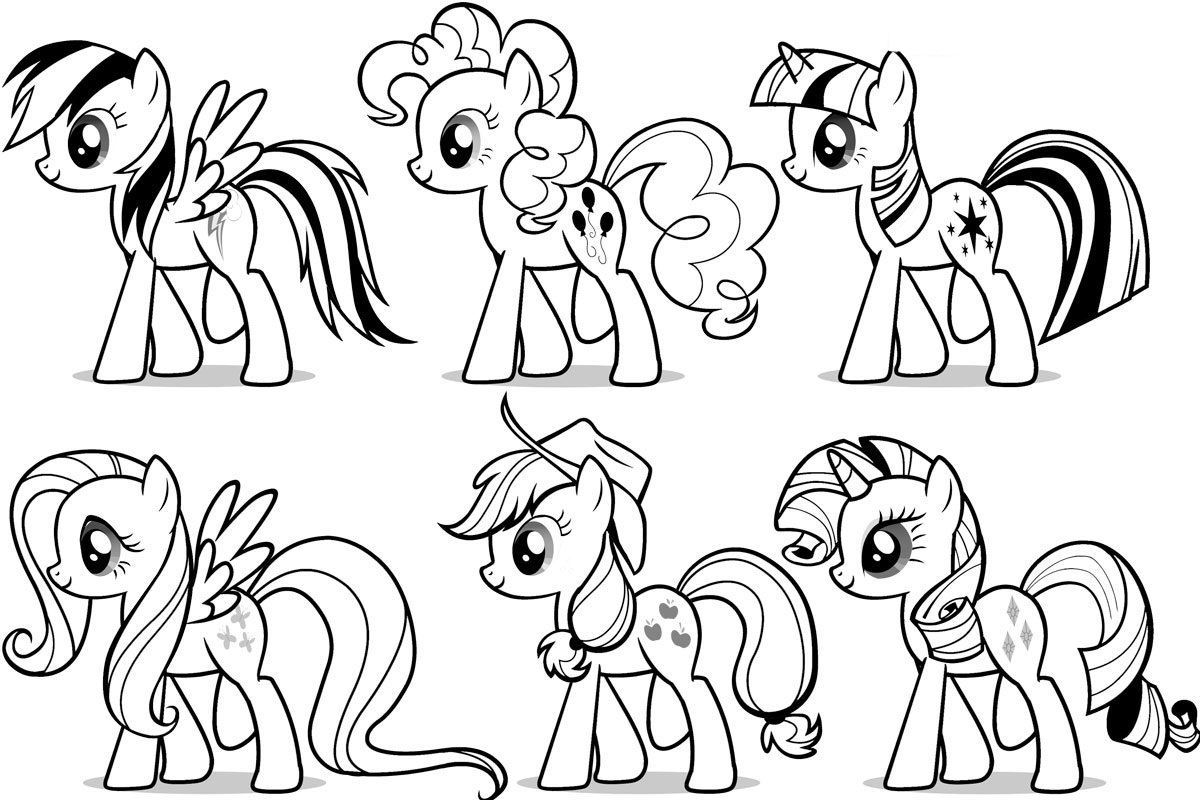 My little pony friendship magic coloring pages print -