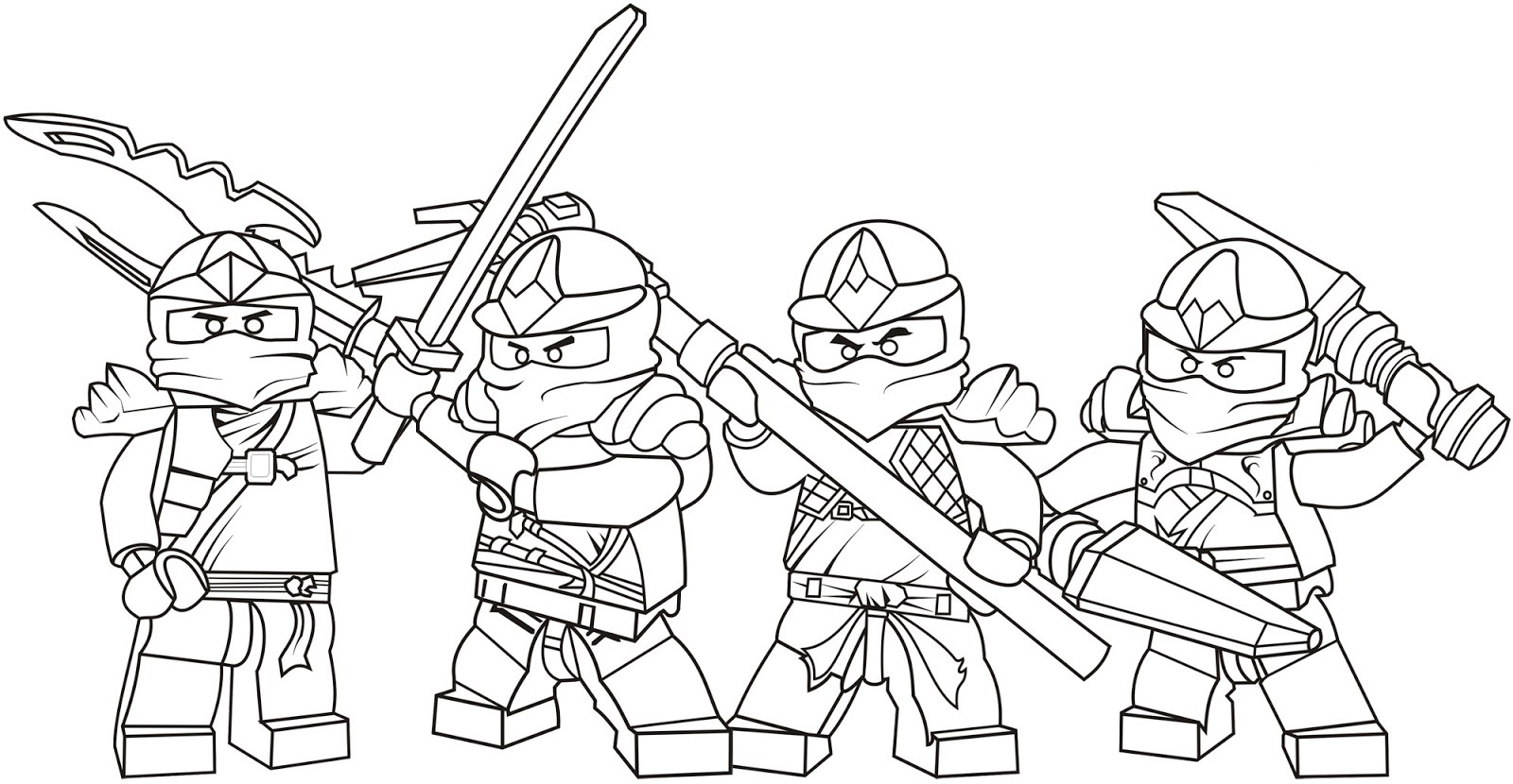 Printable Ninjago Coloring Pages For Kids