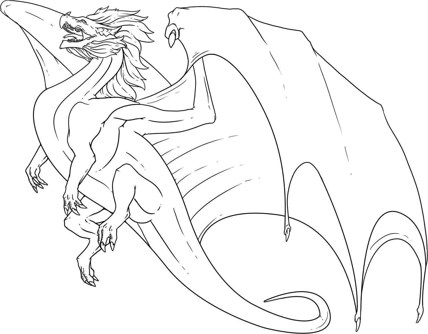 ninjago dragon coloring pages - Printable Dragon Coloring Pages