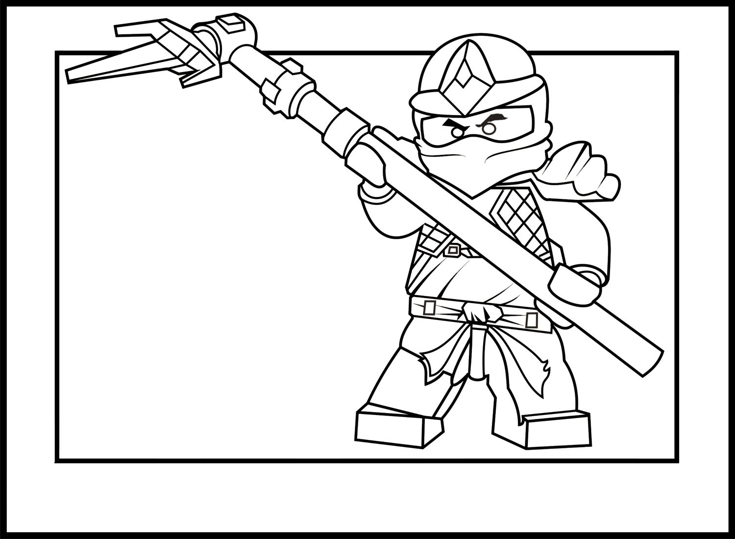 Cole ninjago coloring games online for kids - Ninjago Kai Coloring Pages