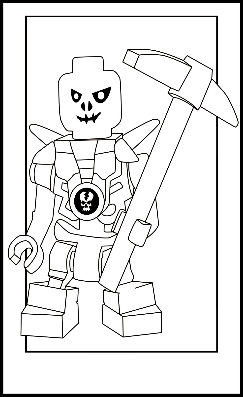 Cole ninjago coloring games online for kids - Ninjago Lego Coloring Pages