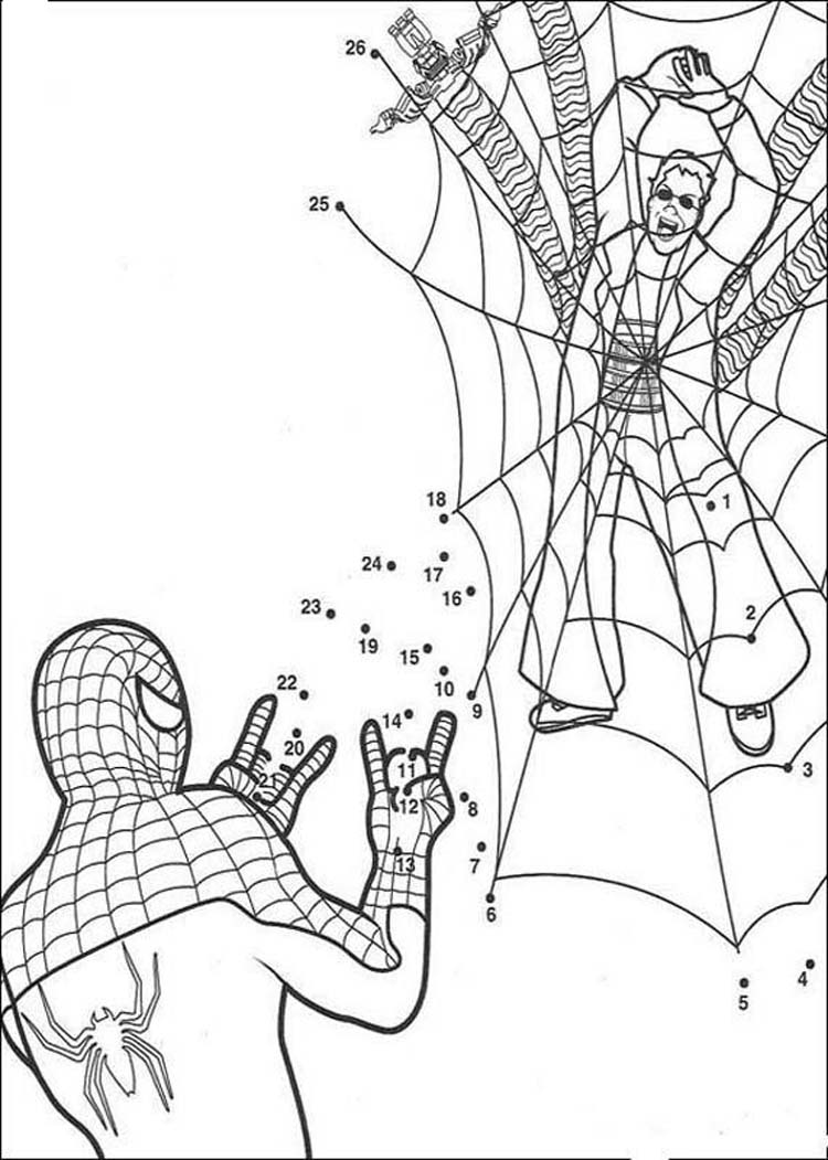 Spiderman online coloring pages for kids - Online Spiderman Coloring Pages