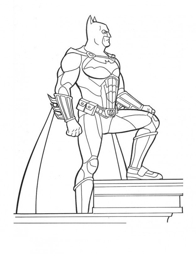 coloring pages batman printable template - photo#16