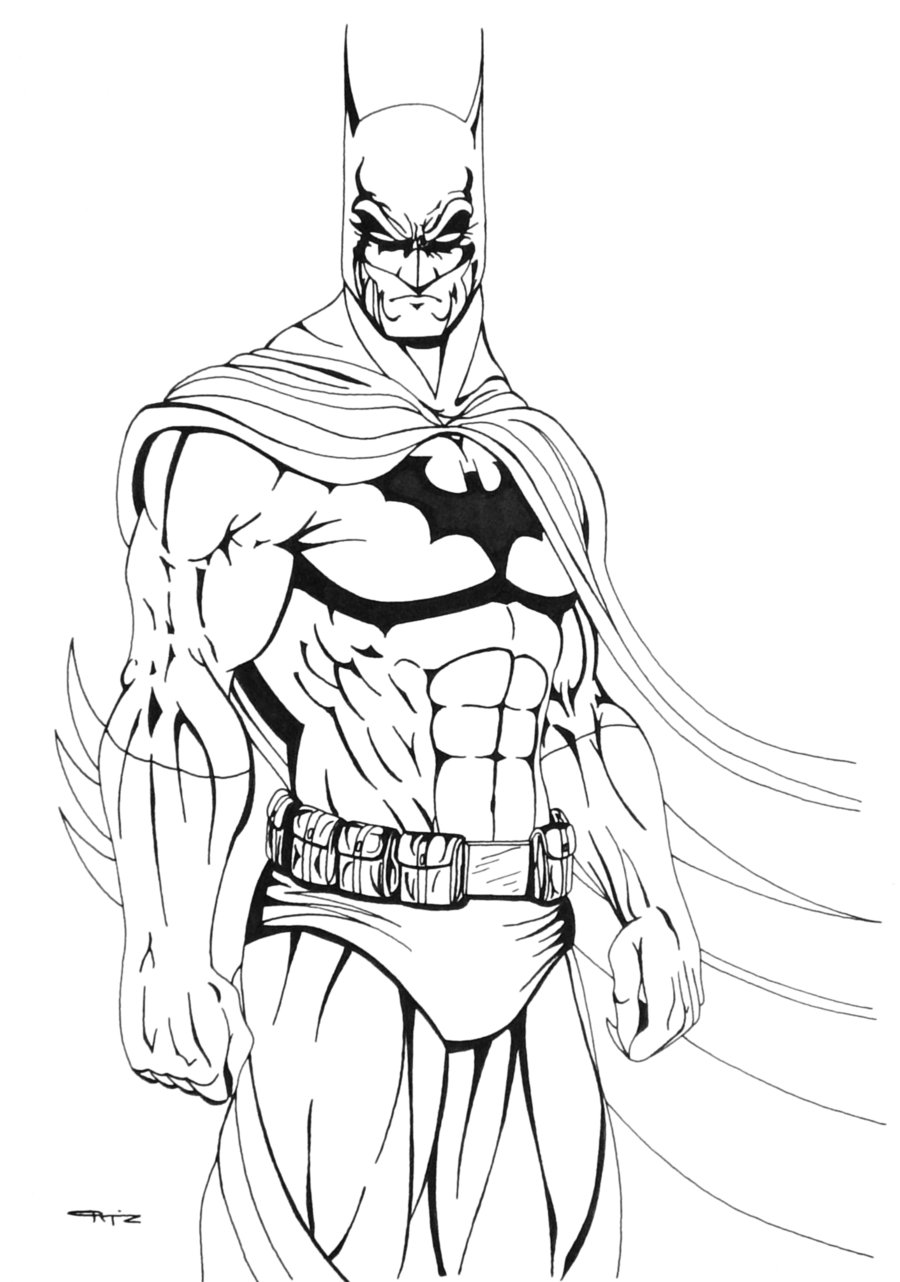 coloring pages batman printable logo - photo#34