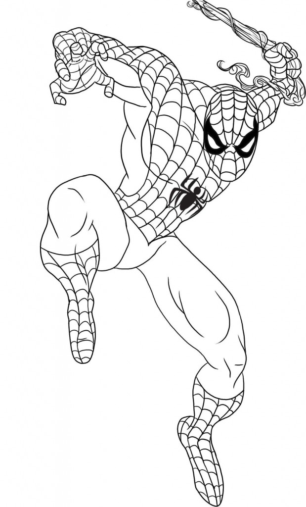 Printable Coloring Pages Spiderman