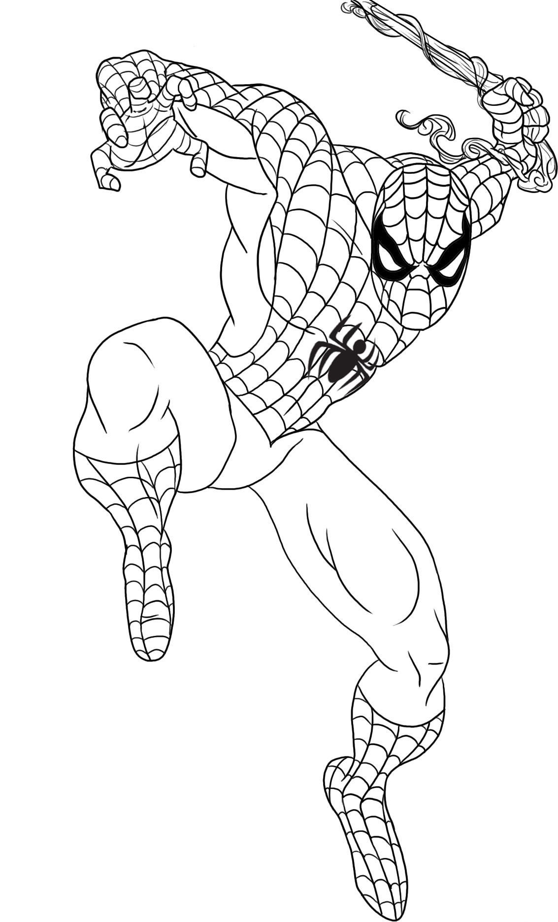 Free printable spiderman coloring pages for kids for Fun coloring pages for kids