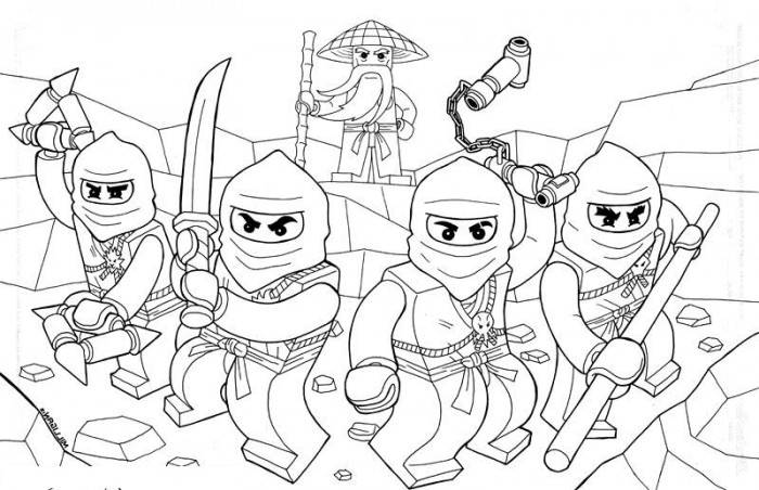Beautiful Printable Lego Ninjago Coloring Pages