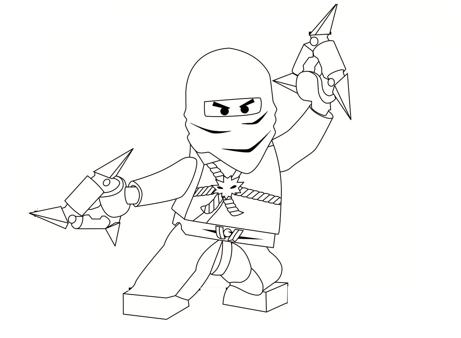 Cole ninjago coloring games online for kids - Printable Ninjago Coloring Pages