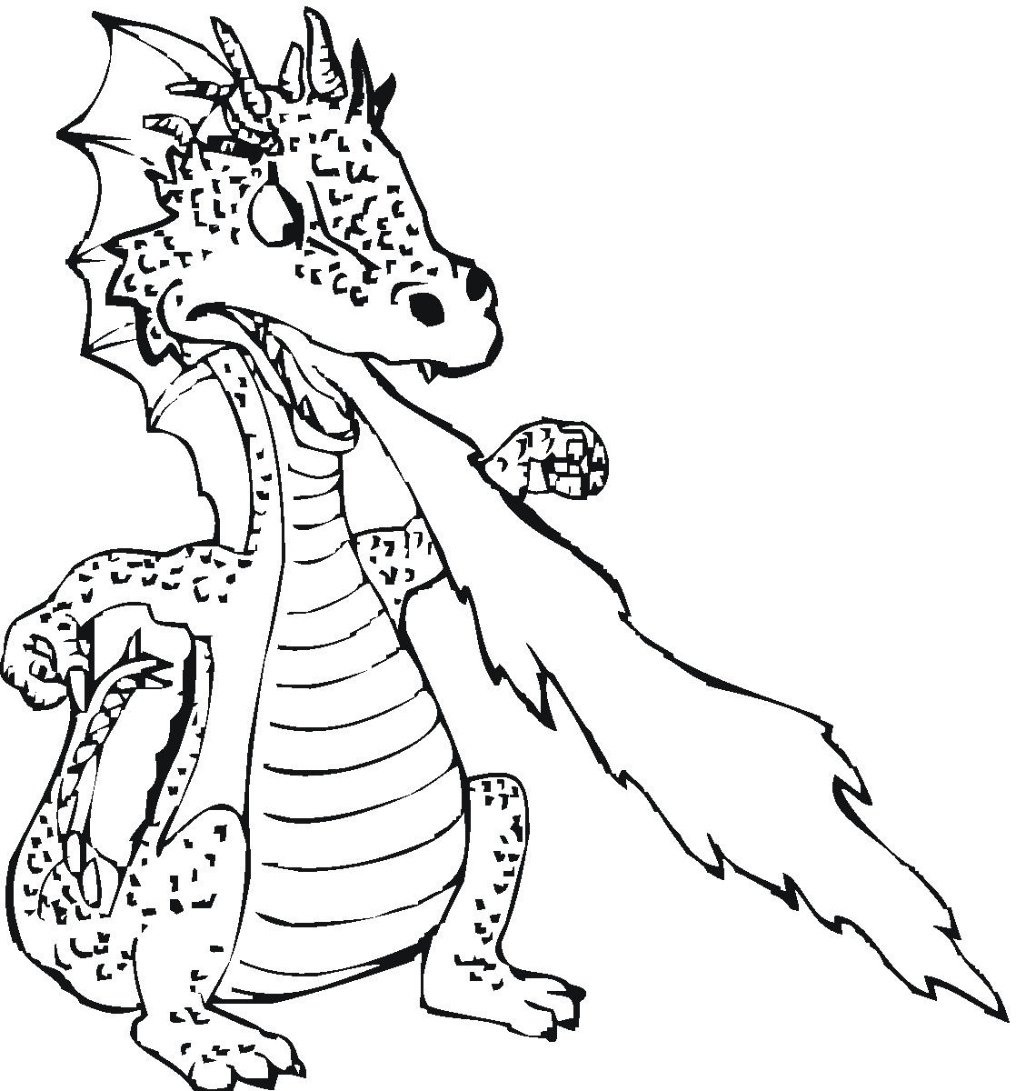 dragon coloring pages free - photo#32