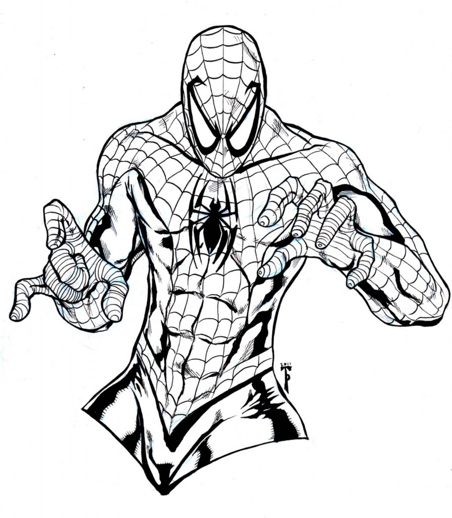 Spectacular Spiderman Coloring Pages