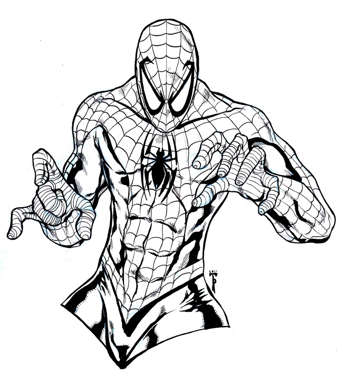free spiderman printable coloring pages - photo#16