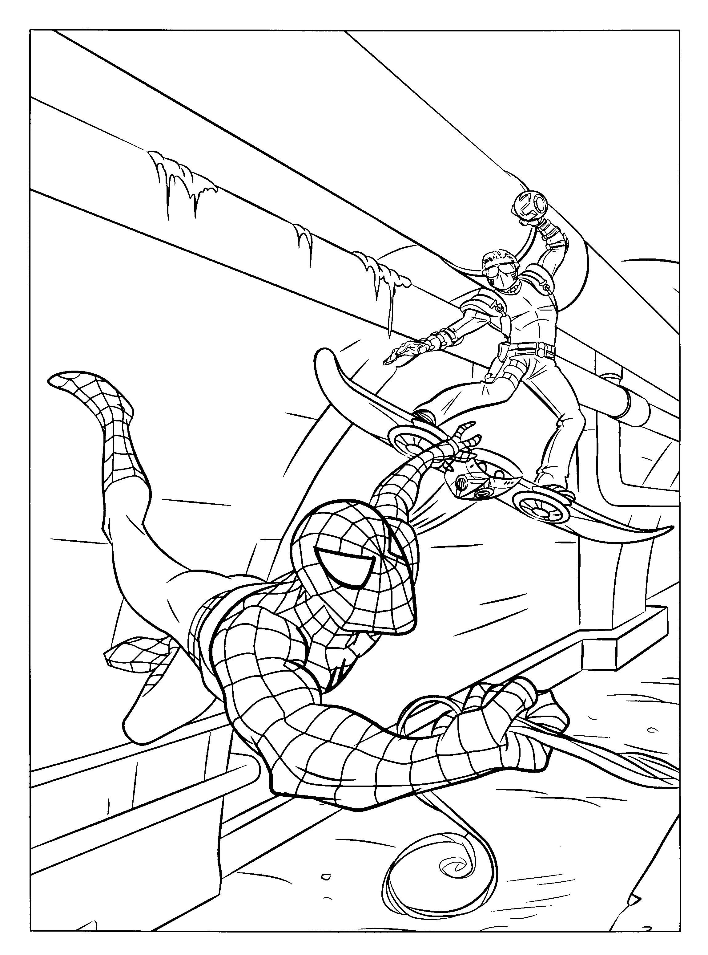 spider man coloring pages u2013 21 free psd ai vector eps format