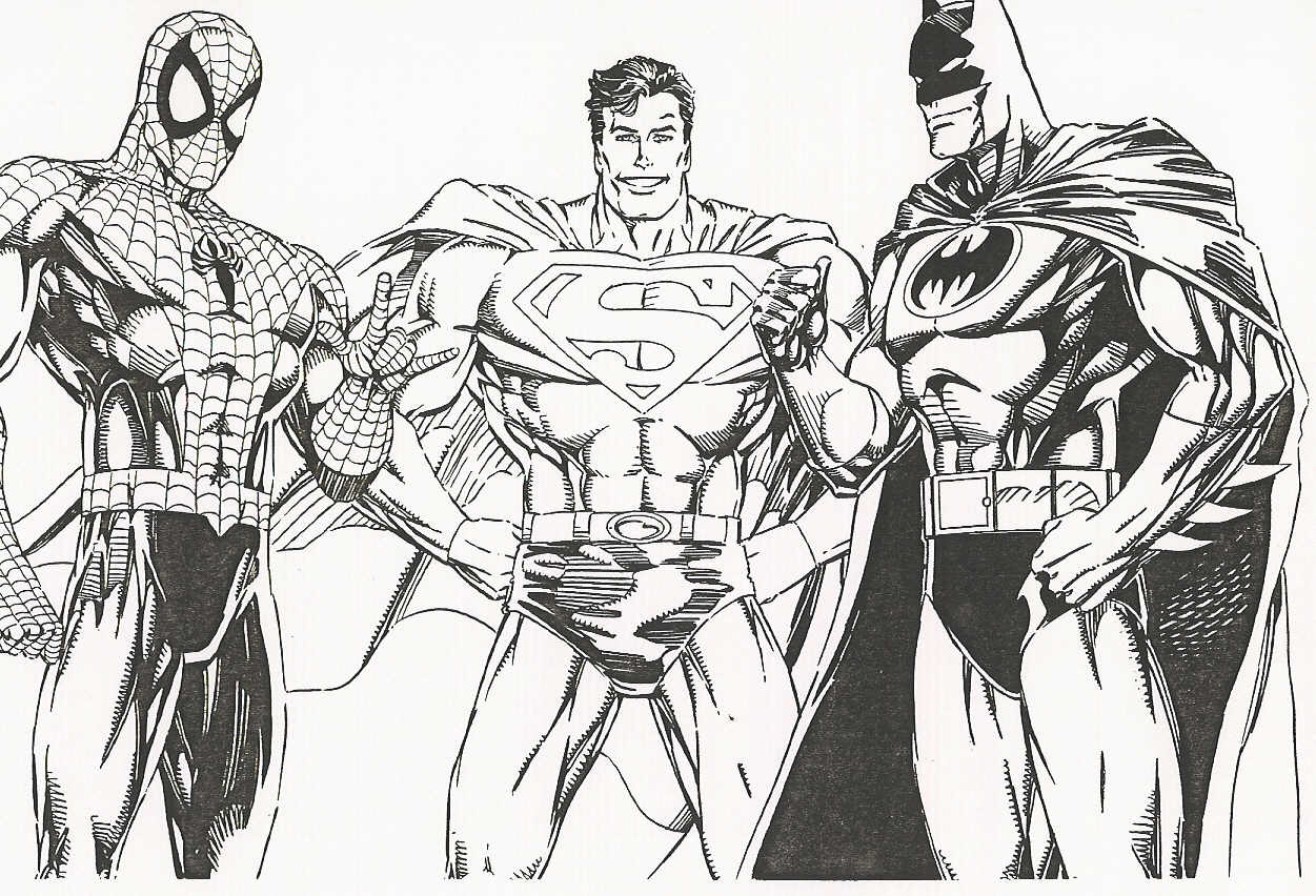 Free Coloring Pages Of Superman Vs Batman
