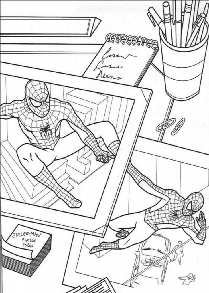 Spiderman Color Pages