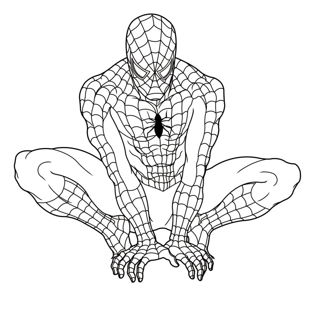 Free Coloring Pages Of Iron Man And Spider Man