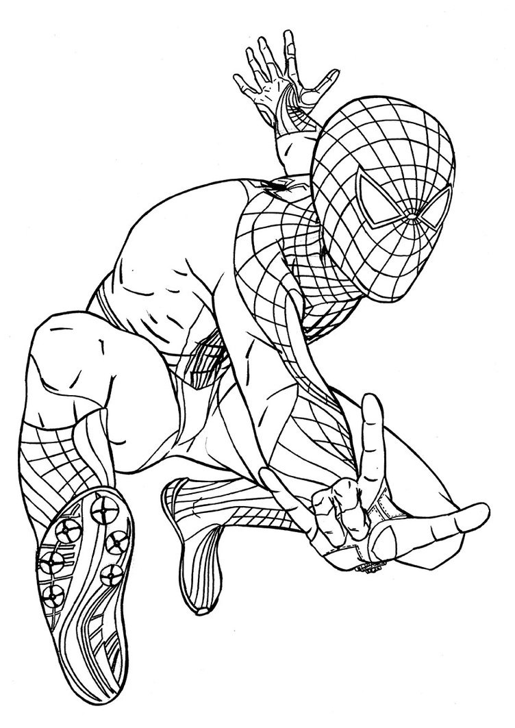 spiderman coloring page printable - Spiderman Coloring Pages Free