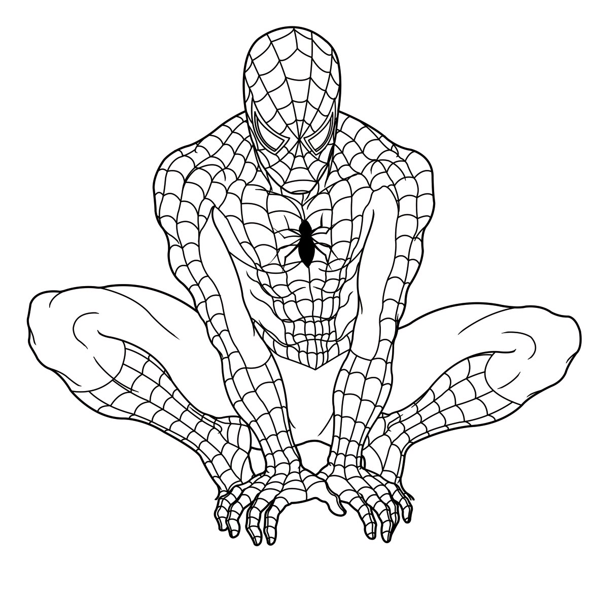 spiderman coloring page - Spiderman Coloring Pages Free