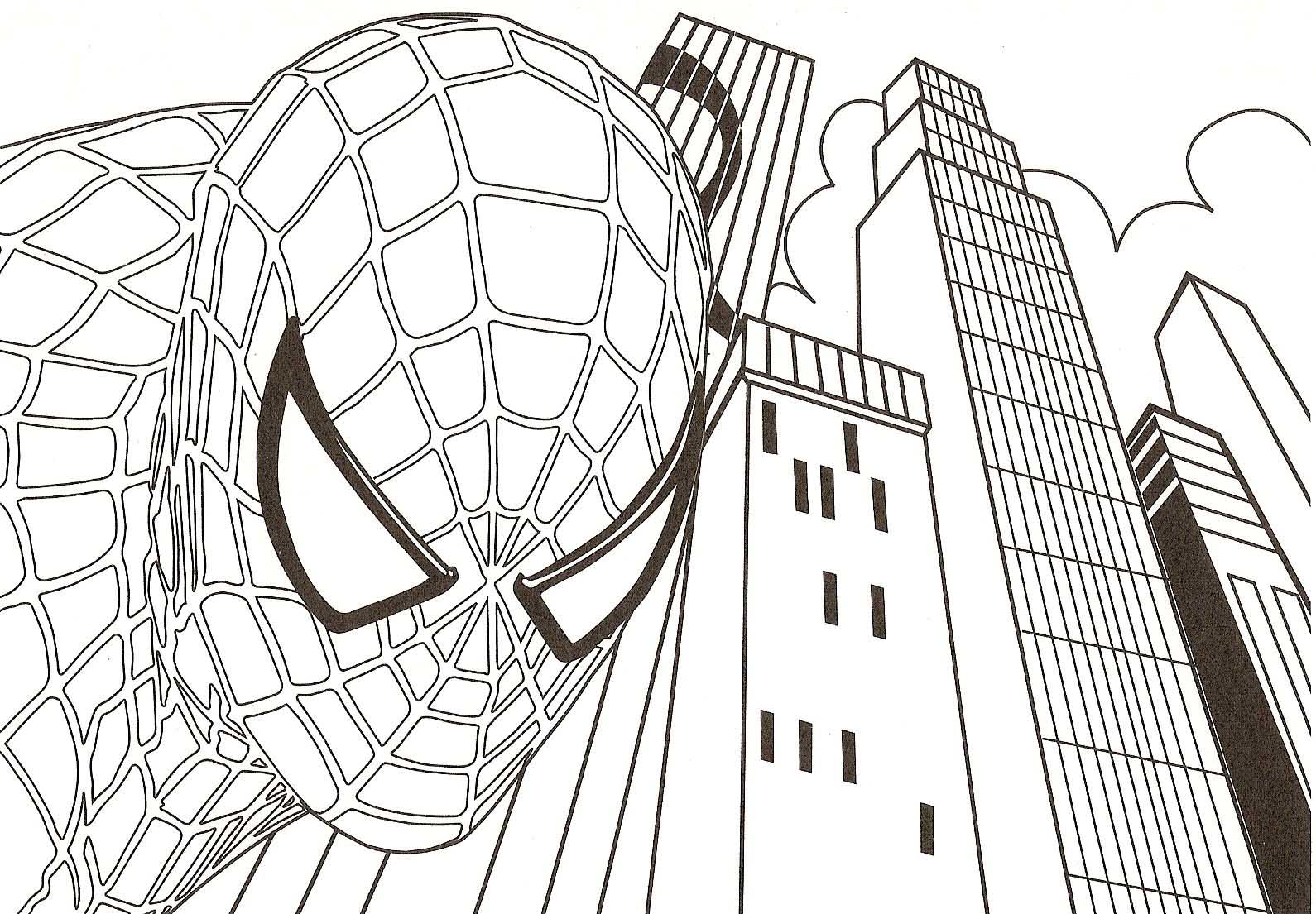 Free printable spiderman coloring pages for kids for Coloring pages games