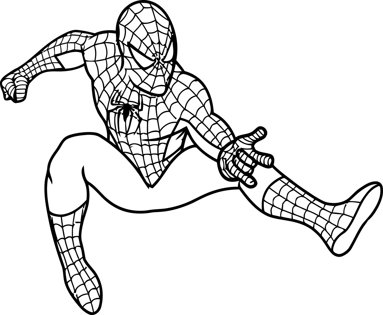 spiderman coloring pages kids printable - Character Coloring Pages Kids