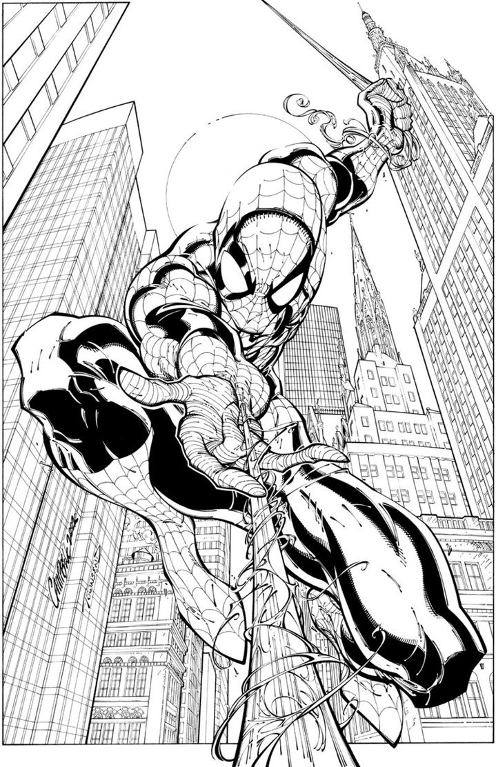 Free Printable Spiderman Coloring Pages For Kids Comic Coloring Pages