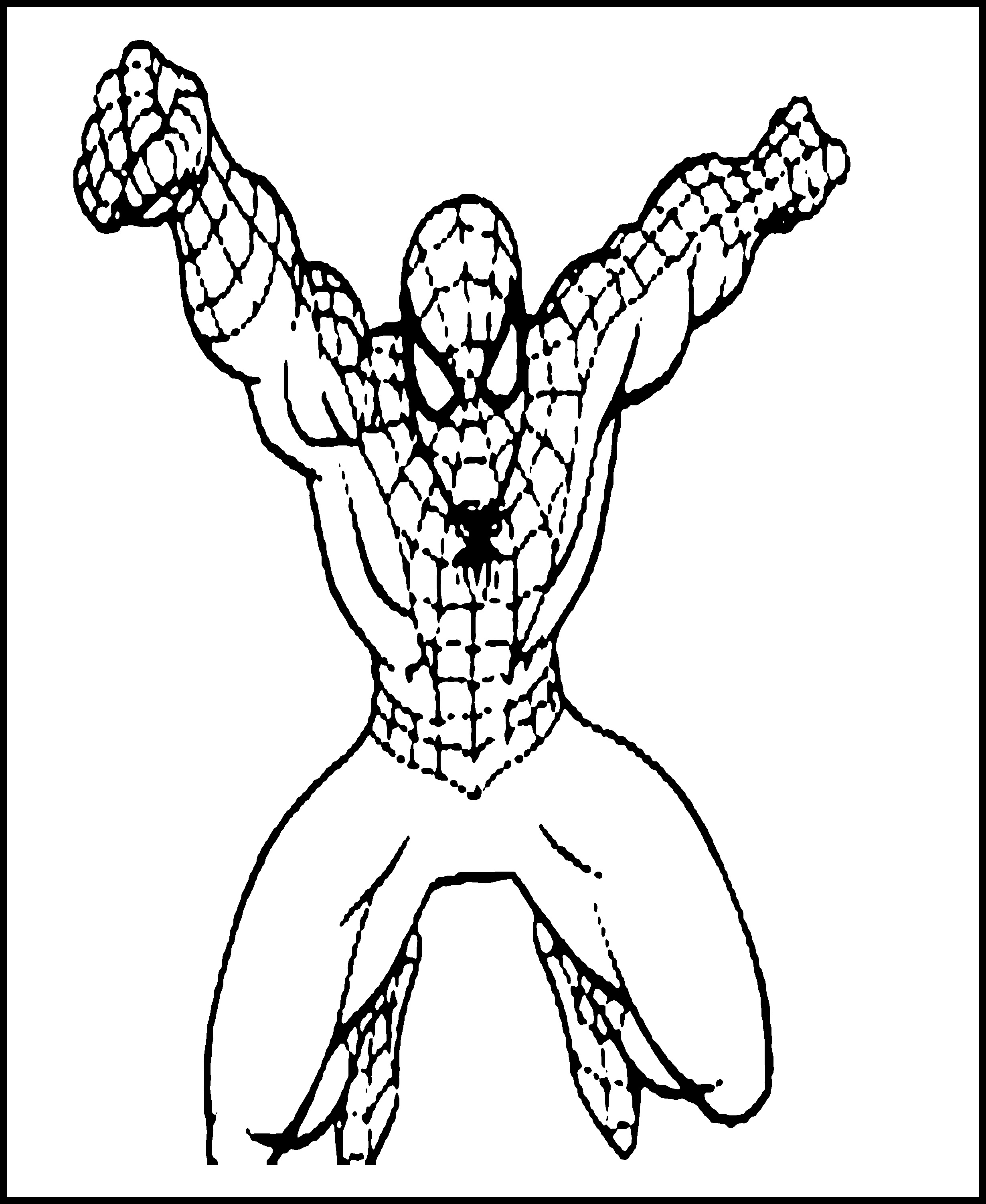 Coloring Pages Spiderman Friends