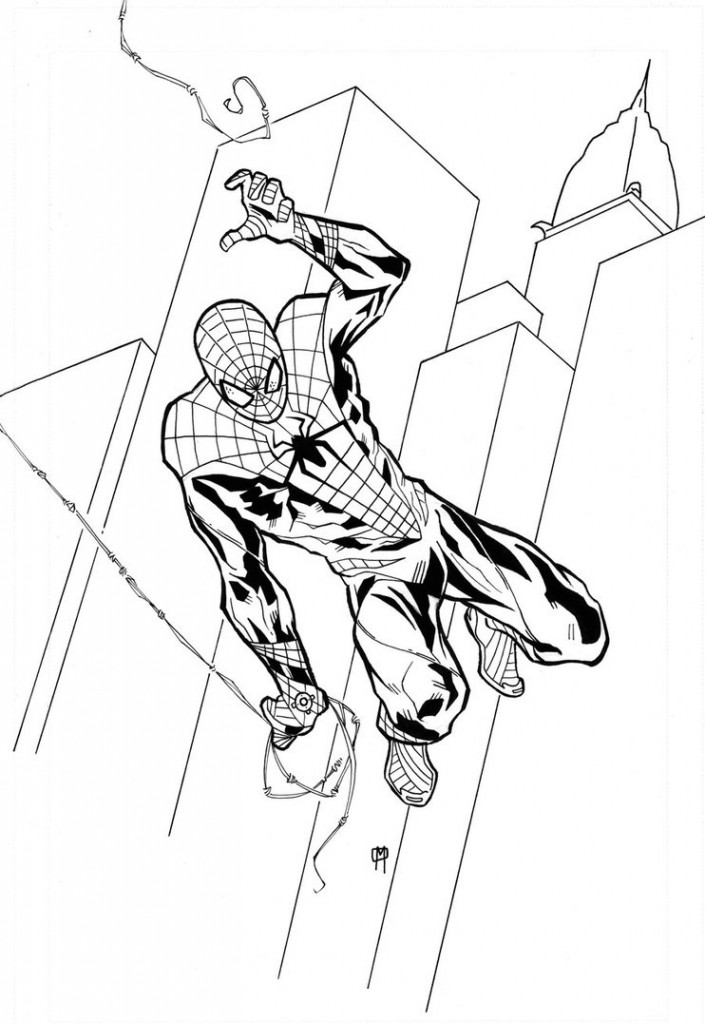 Spiderman Kids Coloring Pages