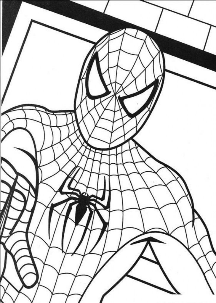 Spiderman Printables Coloring Pages