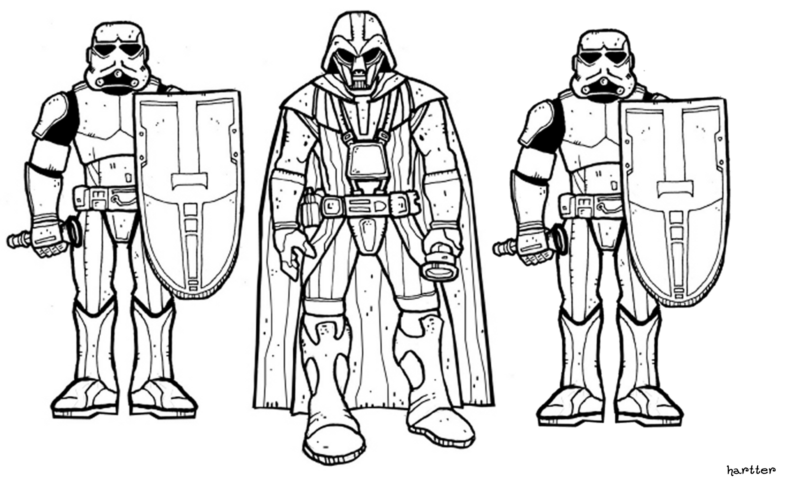 Cartoon Coloring Pages Star Wars Coloring Pages