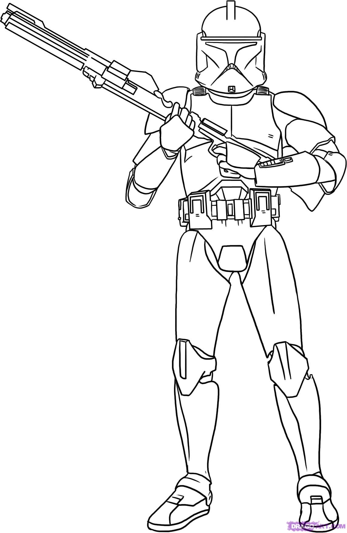clone wars coloring pages | Just Colorings