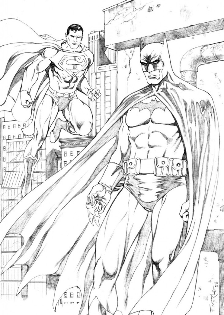 superman coloring page - free printable batman coloring pages for kids